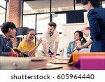 multi ethnic business person... | Shutterstock . vector #605964440