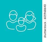family icon flat. | Shutterstock .eps vector #605968640