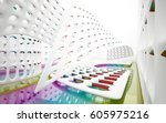 abstract dynamic interior with... | Shutterstock . vector #605975216