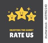 rating stars. flat design. user ... | Shutterstock .eps vector #605982140