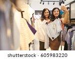pretty vietnamese young women... | Shutterstock . vector #605983220