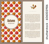 banners set of autumn leaves... | Shutterstock . vector #606003986