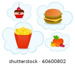 cheeseburger with the pack of... | Shutterstock . vector #60600802