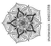 mandalas for coloring book.... | Shutterstock .eps vector #606011558