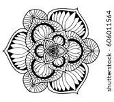mandalas for coloring book.... | Shutterstock .eps vector #606011564