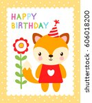 cute vector illustration with a ... | Shutterstock .eps vector #606018200