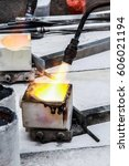 Small photo of Acetylene torch smelting on Gold.