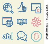 internet web icons set. service ... | Shutterstock .eps vector #606021356