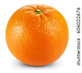 ripe orange isolated on white... | Shutterstock . vector #606022676