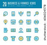 line icons set. flat thin...   Shutterstock .eps vector #606024578