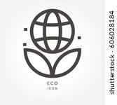 icon eco illustration isolated... | Shutterstock .eps vector #606028184