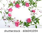 assorted roses heads. various... | Shutterstock . vector #606041054