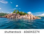 beautiful st. pierre island at... | Shutterstock . vector #606043274