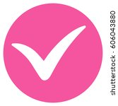 apply vector icon. flat pink...