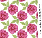 seamless pattern with hand... | Shutterstock . vector #606065870