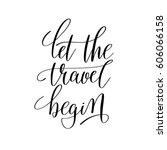 let the travel begin... | Shutterstock .eps vector #606066158