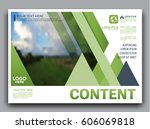 greenery brochure layout banner ... | Shutterstock .eps vector #606069818