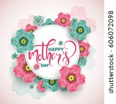 colorful greeting card   poster ... | Shutterstock .eps vector #606072098