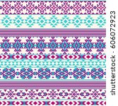 ethnic seamless pattern with... | Shutterstock .eps vector #606072923