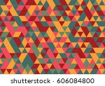 abstract triangle background.   Shutterstock .eps vector #606084800