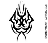 tattoo sketch tribal vector... | Shutterstock .eps vector #606087368