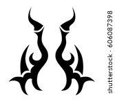 tattoo tribal vector designs.... | Shutterstock .eps vector #606087398