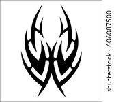 tribal tattoo art designs.... | Shutterstock .eps vector #606087500