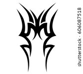 tattoo sketch tribal vector... | Shutterstock .eps vector #606087518