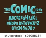 Vector Of Modern Comical Font...