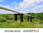 the high pressure pipeline | Shutterstock . vector #606089513