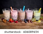 Row Of Colorful Fruit And Cand...