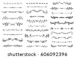 vector collection of hand drawn ... | Shutterstock .eps vector #606092396
