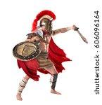 ancient warrior or gladiator... | Shutterstock . vector #606096164