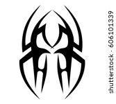 tattoo sketch tribal vector... | Shutterstock .eps vector #606101339