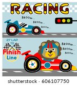 race car championship  kids t... | Shutterstock .eps vector #606107750