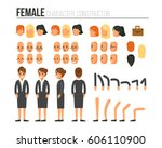 female character constructor... | Shutterstock . vector #606110900