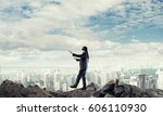 concept of risk and danger in... | Shutterstock . vector #606110930
