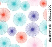 seamless pattern with... | Shutterstock .eps vector #606112100