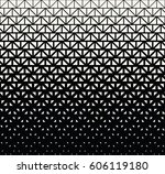 geometric halftone triangle... | Shutterstock .eps vector #606119180