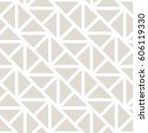 geometric grid triangle minimal ... | Shutterstock .eps vector #606119330