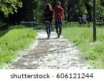 with the arrival of spring... | Shutterstock . vector #606121244