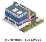 modern 3d shopping mall... | Shutterstock .eps vector #606129398