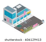 modern 3d shopping mall... | Shutterstock .eps vector #606129413