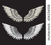 wings illustration  tee shirt...   Shutterstock .eps vector #606156008
