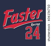 racing sport athletic... | Shutterstock .eps vector #606156710