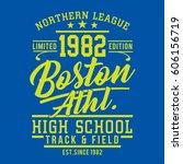 athletic sport boston... | Shutterstock .eps vector #606156719