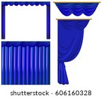 Blue Curtains On White...