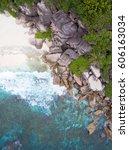 seychelles island white...   Shutterstock . vector #606163034