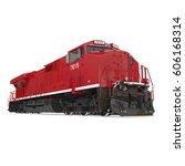 modern locomotive isolated on... | Shutterstock . vector #606168314