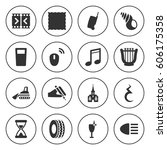 set of 16 object filled icons...   Shutterstock .eps vector #606175358